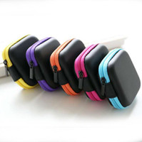 Wholesale Headphones Earphone Cable Storage Hard Box Case Pouch Bag SD Card Hold Box LX3363