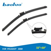 """Wholesale Peugeot Auto Parts - 2PCS Windshield Wiper Blades For Peugeot 3008 32""""&30"""" Natural Rubber Windscreen Wipers Auto Parts Car Accessories"""