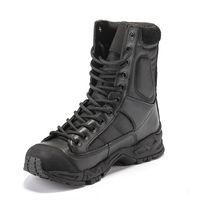 botas de deserto dos homens venda por atacado-Botas de exército Homens Deserto De Couro Preto Sapatos de Trabalho de Combate Inverno Mens Tornozelo Tático Bota Homem Plus Size