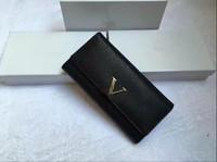 lange taschenmappen für männer großhandel-Neue Marke Brieftaschen Geldbörse Männer Frauen Brieftasche Leder Brieftasche Mode Männer Geldbörse Arteira Masculina lange Münzfach Männer Geldbörse mit Box
