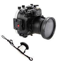 Wholesale Quick Release Lanyard - 40m 130ft Underwater Waterproof Housing Diving Camera Case for Fujifilm Fuji X-T1 XT1 18-55MM Carema Quick Release Coil Lanyard