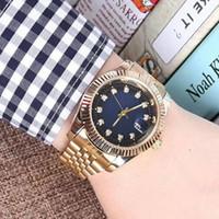 pulsera para hombre diamantes al por mayor-Relogio aaa calidad diamante para hombre relojes de lujo de acero inoxidable moda hombres oro reloj automático daydate cuero pulsera broche maestro reloj