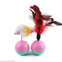 Wholesale furry toys for sale - Outdoor Training Durable Cute Funny Cat Toy Mouse Tumbler Ball Furry Kitten Playing Scratch Lovely Tool