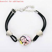 Wholesale diy bracelets materials - blank women bracelets for sublimation fashion links bracelet for heat transfer blank diy consumable materials wholesales
