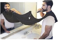 ingrosso grembiule nero-Grembiule da bagno per uomo nero barba cura trimmer rasatura dei capelli grembiule per l'uomo impermeabile panno floreale pulizie di pulizia protezioni 50 pz wn434