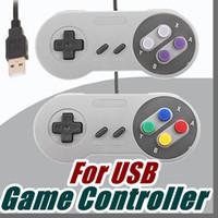 Wholesale tablet classic - Classic USB Controller PC Controllers Gamepad Joypad Joystick Replacement For Super MINI SFC SNES NES Tablet PC Windows E-JYP