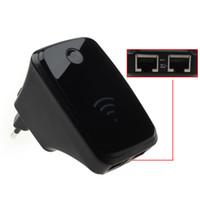 ingrosso mini ripetitore wifi-Mini 300M Wireless-N Wifi Repeater Router di rete LAN Range Extender mini 150m 150mbps Adattatore LAN wireless 802.11b