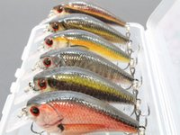 Wholesale 7cm Lures - wLure 6 Lures per Pack 7cm 10g Square Bill 0.5 Meter Depth Wild Wobble Slow Floating RealLife Crankbait Fishing Lure HC15KB