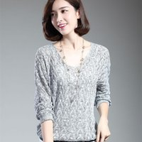 Wholesale bamboo batting - Women Pullovers Lady Bat Sleeve Casual Hollow Out Transparent Thin Sexy Sweater