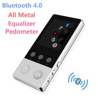 Wholesale mp4 video quality - 2017 High Quality Alloy Bluetooth MP4 Player 8GB Can Support TF Card with FM Radio Pedometer Recorder Video Music Player