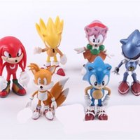 Wholesale sonic movie toys for sale - 6pcs The Hedgehog Figures Toy Children PVC Garage Kit Sonic Shadow Tails Movie Characters Model Ornament Toy Hot Sale ph WW