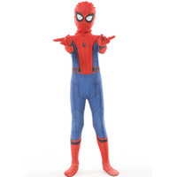 traje de spiderman increíble de zentai al por mayor-Disfraces de Halloween cosplay disfraces para niño de Spiderman Asombroso Spiderman traje traje niños de regreso a casa del mono