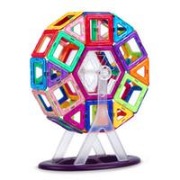 просветить строительные кирпичи оптовых-Большой размер магнитные строительные блоки колесо обозрения кирпич дизайнер просветить кирпичи магнитные игрушки Детский подарок на день рождения
