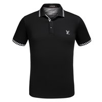 Wholesale Men High Collar T Shirt - 2018 YEEZUS High street Italy designer polo shirt Fashion Luxury Brand medusa t shirts mens Casual Cotton polos with embroidery applique
