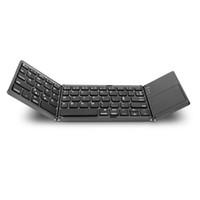 falttastaturen großhandel-Fashion item Tragbare Mini Twice Folding Bluetooth Tastatur 2 colore schwarz silber von dhl