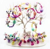tier armbänder mischen großhandel-Heiße Art und Weise mischte Farben reizende Tier-Art-DIY Korn-Armband-Schmuck-Kinder lustiges Geschenk