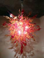 Wholesale Flower Led Light Chain - Modern Art Chandelier Light Flower Lighting Chihuly Handmade Blown Murano Glass Hanging LED Chandelier for Living Room Hotel Villa Decor