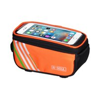 Wholesale bicycle seat storage bags resale online - Bicycle Bags Cycling Waterproof Touch Screen MTB Frame Front Tube Storage Mountain Bike Bag for inch Mobile Phone