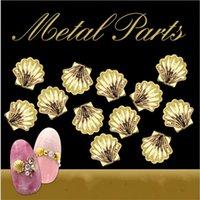 ingrosso chiodi di alluminio-Nail art Glitter oro argento conchiglia paillettes in polvere di alluminio cromato fiocchi decorazione accessori chiodo