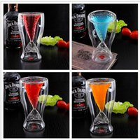 Wholesale Transparent Fish - Top Creative Crystal Mermaid Tail Cocktail Cup Transparent Glass Fish Tail Practical Creative Wine Cup Heat-resisting Glass Bar Cups