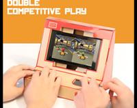 interruptor de playstation al por mayor-Hot DIY Switch Case Labo Toy Soporte plegable Labo Soporte de cartón Soporte Arcade para NS Switch Free DHL