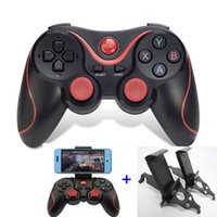 Wholesale phones game sale online - hot sale Terios T3 Bluetooth Gamepad For Android Smart Phone TV Box Joystick Wireless Joypad Game Pad Controller W Mobile Holder Stand