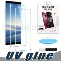 Wholesale Liquid Glue Screen Protector Full Glue Tempered Glass UV Light Liquid Glue For Samsung Galaxy Note S8 S9 Note