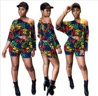 étnicas roupas femininas venda por atacado-2019 Vestido Africano Roupas Femininas Limitada Nova Sexy Retro Étnica Dashiki Moda Solta Dois Conjuntos De Calças De Montagem + Camisa Vestido