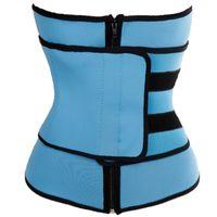 Wholesale tightest shapewear - Unisex Women Underbust Waist Trainer Zipper Tight Up Body Cincher Neoprene Body Wasit Tummy Control Shaper Shapewear