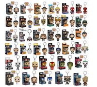 classic movie dolls Australia - Funko Pop Keychain Action Figures Anime Collection Doll kids Toys Movie Anime Key chain Keyring Kid Toy 33 design KKA5030