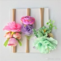 Wholesale floral photographs - Popular Newborn Flowers suit headband Kids Elastic Cute Hairbands baby Hair band photographing props Girls Children Hair Accessories KHA728