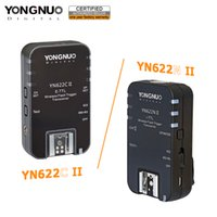 yn flash al por mayor-venta al por mayor YN622C II YN-622N II 2.4GHz Flash Transceiver Speedlite disparador para Canon Nikon w / HSS TTL función de modo múltiple SYNC