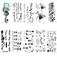 Wholesale pistol style for sale - Rocooart HC151 Waterproof Fake Tattoo Styling Tools Stickers Snake Pistol Black Feather Temporary Tattoos Body Art Tattoo