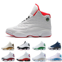 Wholesale cat bowl black - New 13 13s Basketball Shoes Black Cat Hyper Pink Bred History Of Flight Playoffs Flints Wheat DMP Chicago Italy Blue Velvet Red Sneakers