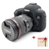 couvertures de stylo de silicone achat en gros de-Joli sac de caméra en caoutchouc de silicone souple pour Canon EOS 5D4 5D Mark IV Housse de protection pour boîtier de caméra pour Canon 5D 4 Lens Pen