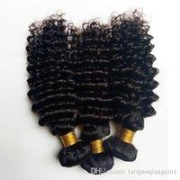 renk 32 saç örgüsü toptan satış-Brezilyalı bakire insan saçı örgüleri güzellik sapıkça kıvırcık saç uzatma Hint Remy saç atkı Doğal Renk ve Siyah # 1 # 1b Siyah kadın için