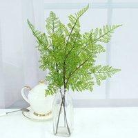 accessoires d'herbe achat en gros de-Mini Style Frais Artificielle Fleur Herbe Pour Bureau Décoration Photographie Props Simulation Vert Plantation Feuille Vente Chaude 1 76qh Z