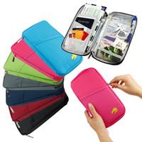 Wholesale Document Handbag - Multifunctional Passport Holder Document Ticket Wallet Handbag ID Credit Card Storage Bag Travel Organizer Purse AAA26