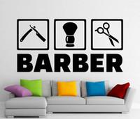 наклейки для волос оптовых-Съемный парикмахерская наклейки парикмахерская стены виниловые наклейки стикер стены для гостиной украшения дома