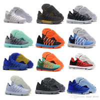 Wholesale grey kevin durant high cut shoes for sale - 2018 New Arrival KD X Oreo Bird of Para Basketball Shoes for High quality Kevin Durant s Bounce Airs Cushion Sports Sneakers Size