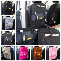 Wholesale wholesale clothing magazines - Car Seat Back Storage Bag Hanging Car Seat Cover Organizer Magazine Cup Food Phone Bag 7 Colors YW631