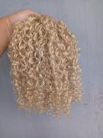 ingrosso fasci di capelli vergini cinesi-Nuovo stile Forte cinese Virgin Remy Trama di capelli Estensioni dei capelli umani Top Biondo 6130 # Fascio di colore