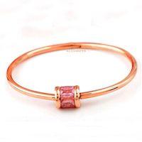 zubehör armbänder großhandel-Frauen Japan und Südkorea überzogen 18K Roségold Eis Stein Armband Titan Stahl Armband Damenmode Accessoires