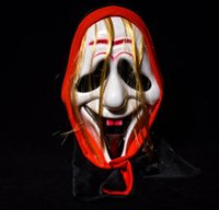 Wholesale women mask hood for sale - Group buy Horror Skull Mask Mascaras Terror Smile Black Face Hood Mask Halloween Masquerade Party Mask Party Dress Ghost Scary
