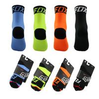 носки велосипедные для мужчин оптовых-New Hot FOX велосипедные носки мужские горные велосипедные носки Открытый беговые походы дышащие спортивные носки женские 4 цвета