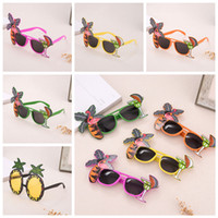 Wholesale dress up face online - Flamingo Party Glasses pineapple Hawaiian Beach Beer Sunglasses Goggles Cosplay Night Stage Fancy Dress up Eyewear Party Mask AAA807