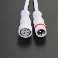 conector macho fêmea fêmea venda por atacado-O envio gratuito de 5 pares 3core 3Pin fio do núcleo led strip conector cable macho para feminino cabo de linha pigtail à prova d 'água