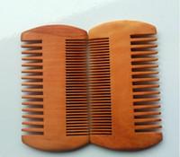 ingrosso legno tascabile-Pettine in legno pettine Doppi lati Super stretto legno spesso pettini Pente Madeira Pidocchi strumento Pet capelli