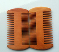 Pocket Wooden Beard Comb Double Sides Super Narrow Thick Wood Combs Pente Madeira Lice Pet Hair Tool
