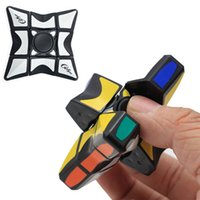 Wholesale Spin Toy Magic - Cube Spinner Fidget Cubes Spinning Magic Cube EDC Anti-stress Rotation Spinners Fidget Spinners Decompression Novelty Toys for Kids